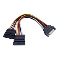 "QVS 6"" Dual Serial ATA Internal Y Power Cable"