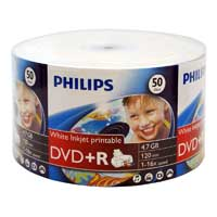 Philips Printable DVD+R 16x 4.7GB/120 Minute 50 Pack