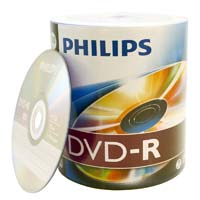 Philips DVD-R 16x 4.7GB/120 Minute Disc 100 Pack