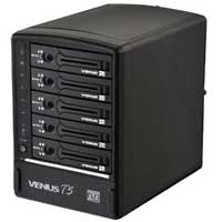 "AMS 3.5"" VENUS T5 mini 5-Bay SATA to SuperSpeed USB 3.0/eSATA Desktop External Hard Drive Enclosure"