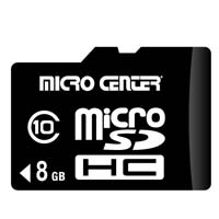 Micro Center 8GB Micro Secure Digital High Capacity (Micro SDHC) Flash Media Card
