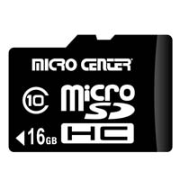 Micro Center 16GB Micro Secure Digital High Capacity micro SDHC Class 10 Flash Media Card