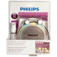 Philips 4 in 1 CD/DVD Cleaning Kit