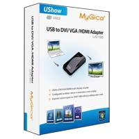 MyGica USB to DVI/VGA/HDMI Multi-Display Adapter
