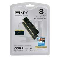 PNY 8GB DDR3-1600 (PC3-12800) CL 9 Dual Channel Desktop Memory Kit (Two 4GB Memory Modules)