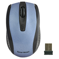 Gear Head 2.4 GHz Wireless Optical Nano Mouse Blue