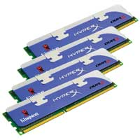 Kingston HyperX 16GB DDR3-1600 (PC3-12800) CL9 Dual Channel Desktop Memory Kit (Four 4GB Memory Modules)