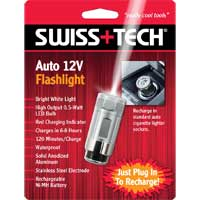 Swiss Tech Auto 12V Rechargeable Flashlight