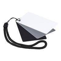 Dot Line Pocket Size Gray/Black/White Color Balance Cards w/Lanyard
