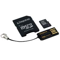 Kingston 32GB Class 4 Micro Secure Digital High Capacity (Micro SDHC) Flash Media Card with Mobility Kit MBLY4G2/32GB