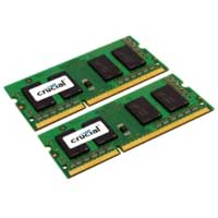 Crucial 16GB DDR3-1333 (PC3-10600) CL9 SO-DIMM Laptop Memory Kit (Two 8GB Memory Modules)