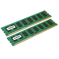 Crucial 16GB DDR3-1333 (PC3-10600) CL9 Dual Channel Desktop Memory Kit (Two 8GB Memory Modules)