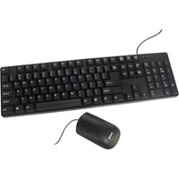 Inland Pro Basic PS/2 Keyboard and Mouse Combo - Black