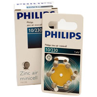 Philips 10/230 Hearing Aid Cell Battery 6 Pack