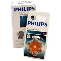 Philips #13 Hearing Aid Battery 6 Pack