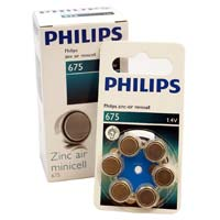 Philips #675 Hearing Aid Battery 6 Pack
