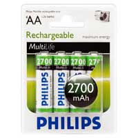 Philips Rechargeable AA Battery 4 Pack