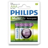 Philips Ready to Use MultiLife Rechargeable AAA Battery 4 Pack