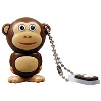 Emtec International M322 Animal Series Safari Monkey 4GB USB 2.0 Flash Drive EKMMD4GM322