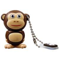 Emtec International M322 Animal Series Safari Monkey 4GB USB 2.0 Flash Drive EKMMD4GM322