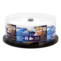 Philips Hub Printable BD-R 6x 25GB Discs 25 Pack Spindle
