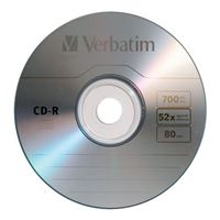 Verbatim CD-R 52x 700MB/80 Minute Discs 50 Pack