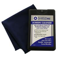 "Shield Me Screen Cleaner w/ 6"" x 6"" Antimicrobial Microfiber"