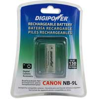 Digipower BP-CN9L Replacement Li-Ion Battery for Canon NB-9L