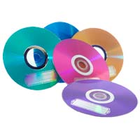 Verbatim CD-R Color 52x 700MB/80 Minute Discs 10 Pack