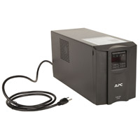 APC 1500 VA Smart-UPS with Pure Sine Wave Output, Automatic Voltage Regulation (AVR), 8 outlets and LCD display