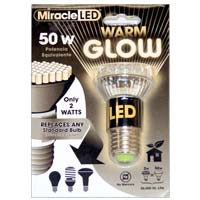 MiracleLED 2 Watts Warm Glow White 60W Equivalent Bulb