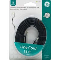 GE RJ-22 Male to RJ-22 Male Phone Cord 25ft. - Black
