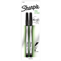 Sharpie Fine Point Pens 2 Pack Black