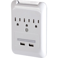 Targus 3 Outlet Plug-N-Power Charging Station Surge with 540 Joules and 2 USB Charging Ports (2.1A)
