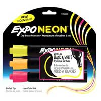 Expo Dry Erase Markers 3 Pack Assorted Neon Colors