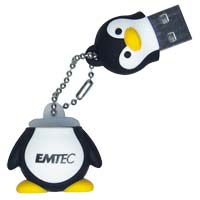 Emtec International M314 Animal Series Penguin 4GB USB 2.0 Flash Drive EKMMD4GM314