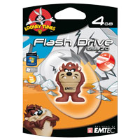 Emtec International Looney Tunes Tazmanian Devil 4GB USB 2.0 Flash Drive EKMMD4GL103