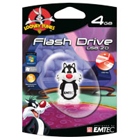 Emtec International Looney Tunes Series 4GB USB 2.0 Flash Drive (Sylvester the Cat) EKMMD4GL101