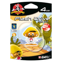Emtec International Looney Tunes Speedy Gonzales 4GB USB 2.0 Flash Drive EKMMD4GL102