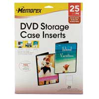 Memorex DVD Storage Case Inserts 25 Pack