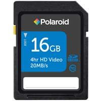 Polaroid 16GB Class 10 Secure Digital High Capacity (SDHC) Flash Media Card P-SDHC16G10-EFP