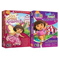 Nova Development Dora Saves the Crystal Kingdom/ Dora Lost & Found Adventure - Bundle (PC/Mac)