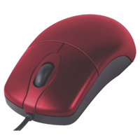 Inland Basic Optical USB Mouse Red