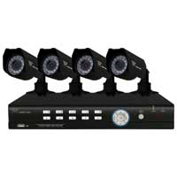 Night Owl 4BL-45GB 4 Channel H.264 Complete Video Security Kit with 4 Vandal Proof Night Vision Cameras (45ft), D1 Recording, 500GB Hard Drive, with Internet, Smartphone, and Tablet viewing