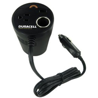 Duracell 130 Watts Power Inverter w/ Advanced 2.1 Amp USB Port