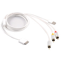 Inland 6' Apple Composite (RCA) AV Cable White