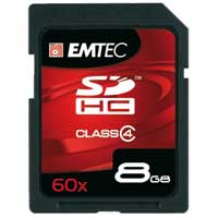 Emtec International 8GB Class 4 Security Digital High Capacity (SDHC) Flash Media Card EKMSD8GB60XHCOP