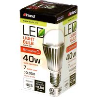 Inland A17 7W 460L LED Bulb Dimmable 40w Equivalent