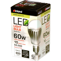 Inland A19 10W 800L LED Bulb Non-Dimmable 60W Equivalent