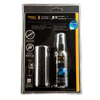 Antec 3X Strength Spray, Anti-bacterial Travel Cleaner Kit with 60ml Cleaning Spray and 7.9 x 7.9 Microfiber Cloth